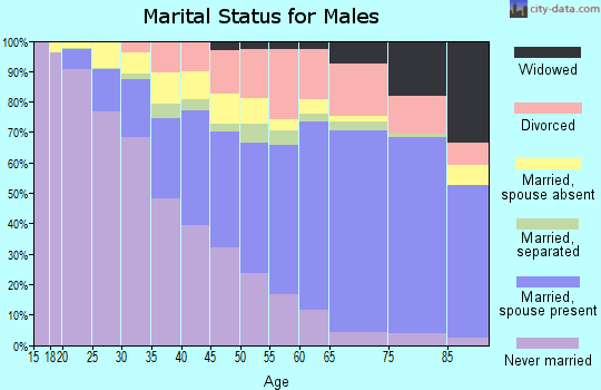Zip code 08302 marital status for males