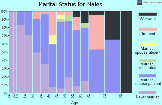 Zip code 08312 marital status for males