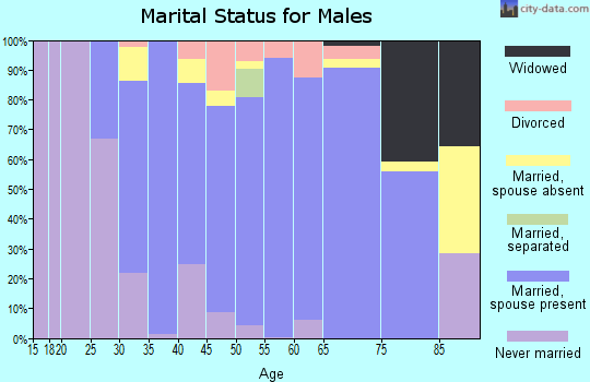 Zip code 08512 marital status for males