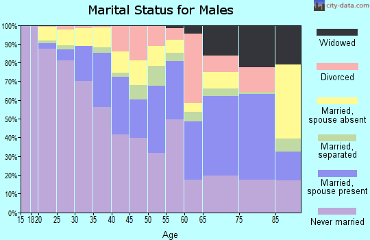 Zip code 08611 marital status for males