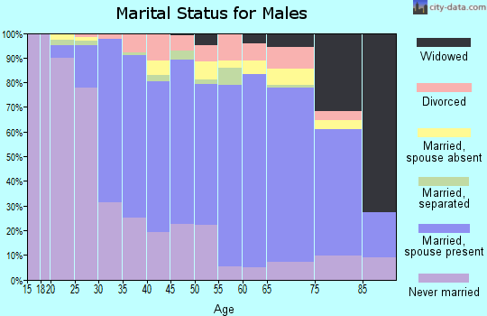 Zip code 08859 marital status for males