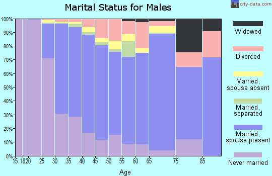 Zip code 08902 marital status for males