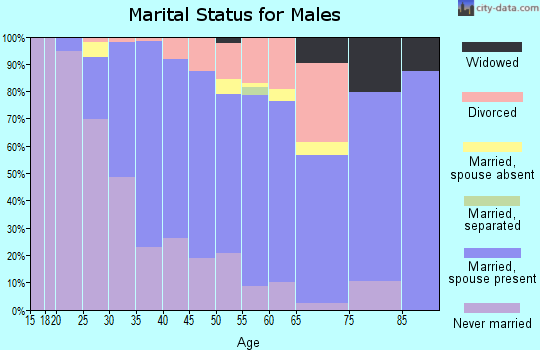 Zip code 08904 marital status for males
