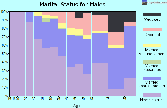 Zip code 10003 marital status for males