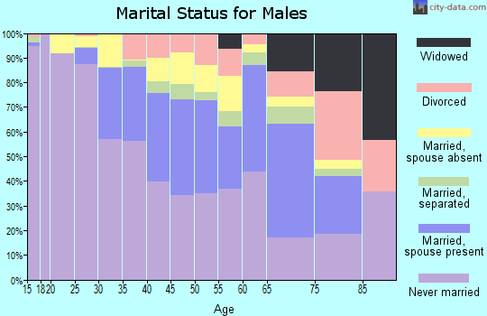 Zip code 10026 marital status for males