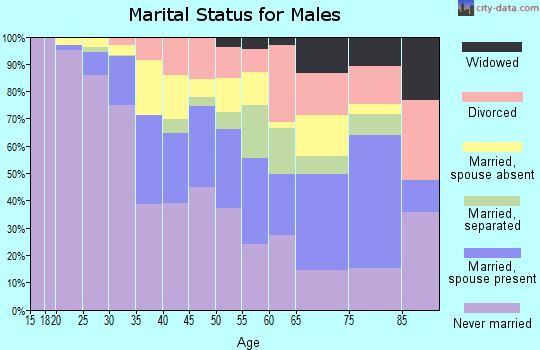 Zip code 10031 marital status for males