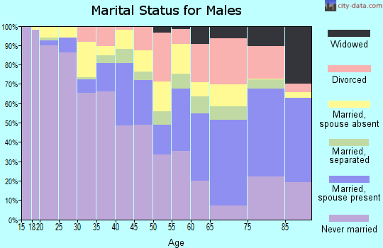 Zip code 10032 marital status for males