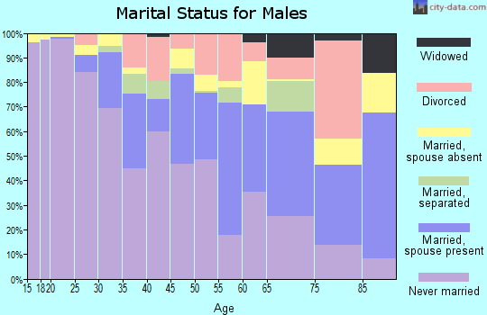 Zip code 10039 marital status for males