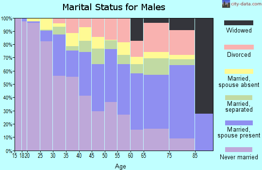 Zip code 10455 marital status for males