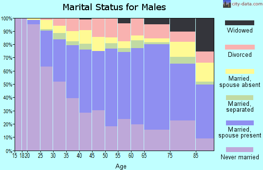Zip code 10463 marital status for males