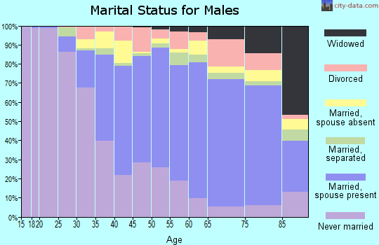 Zip code 10465 marital status for males