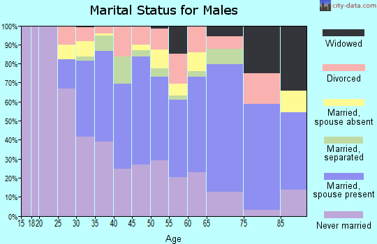 Zip code 10470 marital status for males