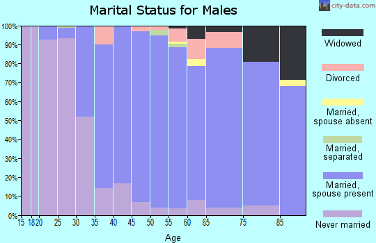 Zip code 10510 marital status for males