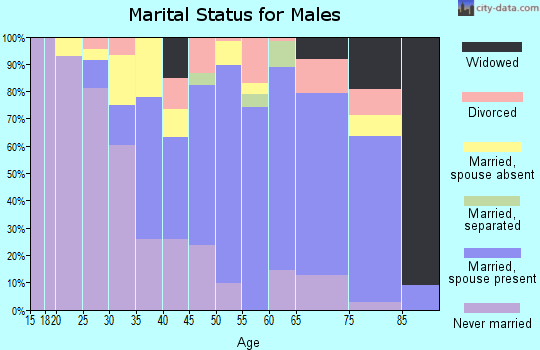 Zip code 10523 marital status for males