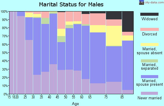 Zip code 10552 marital status for males