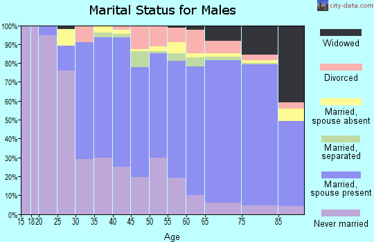 Zip code 10704 marital status for males
