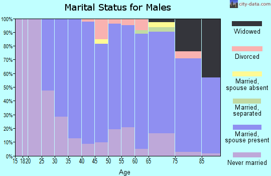 Zip code 10709 marital status for males