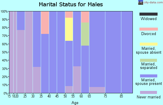 Zip code 10917 marital status for males