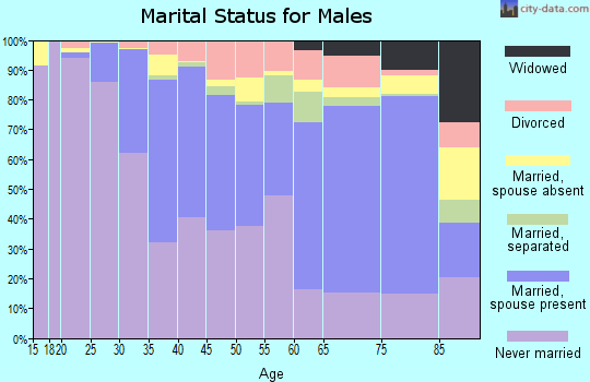 Zip code 11217 marital status for males