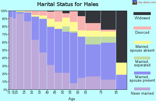 Zip code 11222 marital status for males