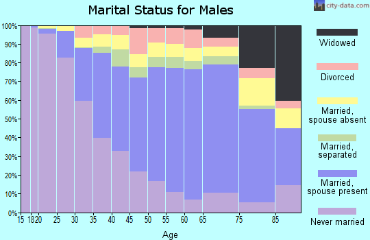 Zip code 11236 marital status for males