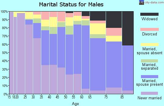 Zip code 11436 marital status for males