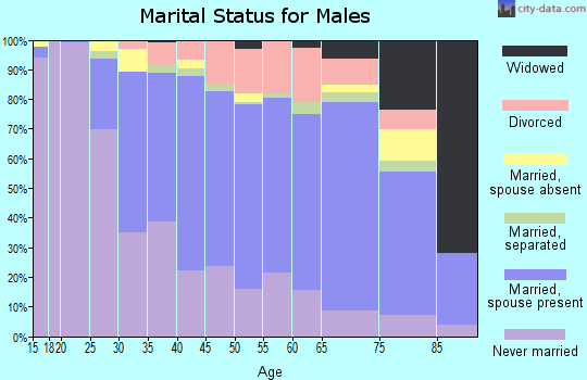 Zip code 11772 marital status for males