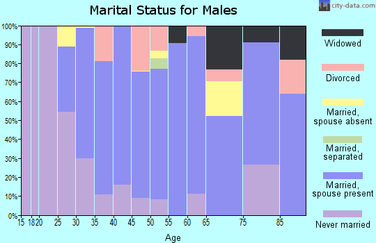 Zip code 11934 marital status for males