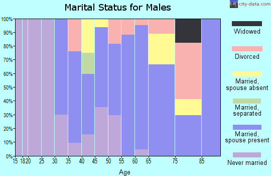 Zip code 12430 marital status for males