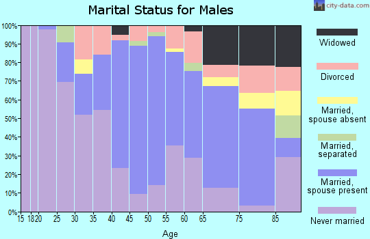 Zip code 12754 marital status for males