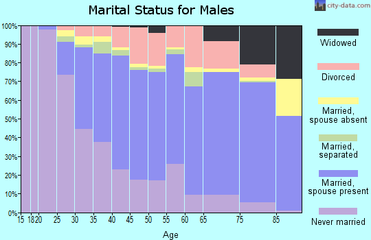 Zip code 13021 marital status for males