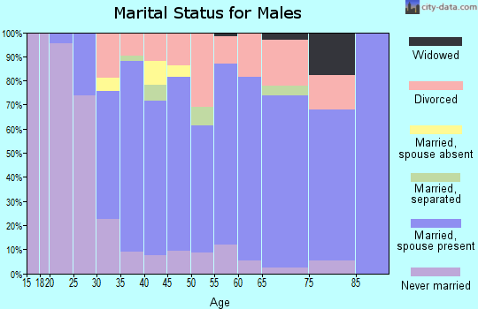 Zip code 14009 marital status for males