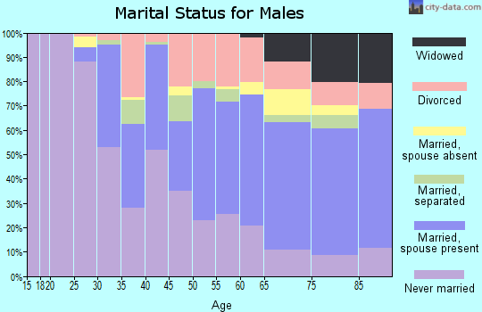 Zip code 14206 marital status for males