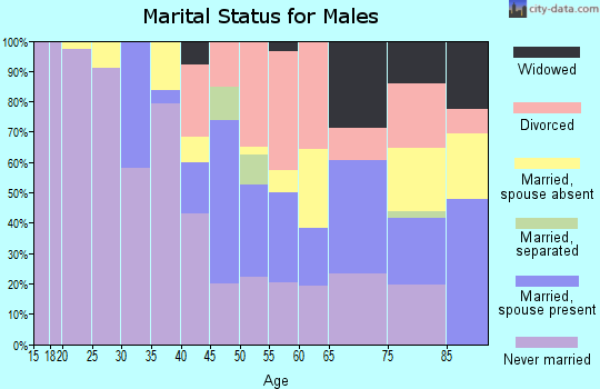 Zip code 14208 marital status for males