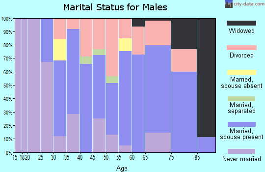Zip code 14517 marital status for males