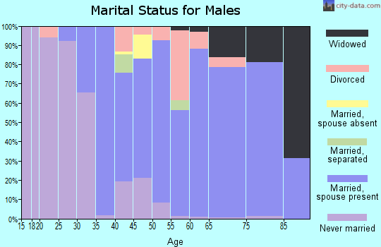 Zip code 14546 marital status for males