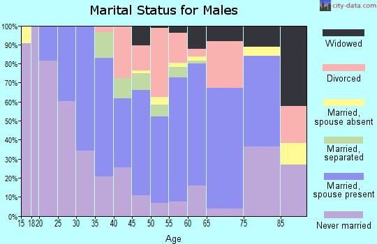 Zip code 14551 marital status for males
