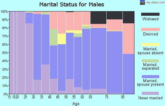 Zip code 14590 marital status for males