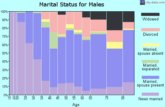 Zip code 14830 marital status for males
