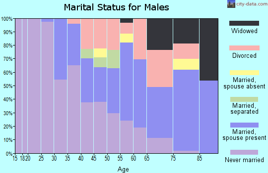 Zip code 15110 marital status for males