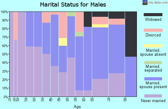 Zip code 15112 marital status for males