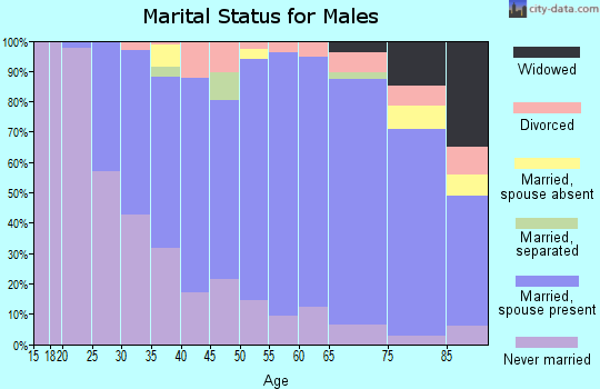 Zip code 15116 marital status for males
