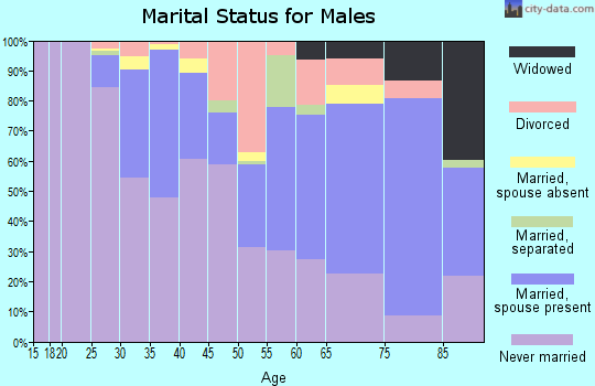 Zip code 15213 marital status for males