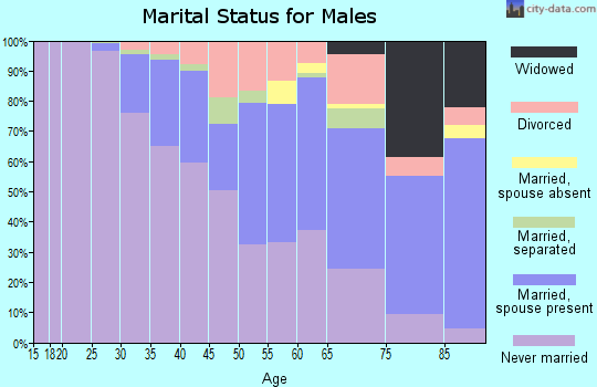 Zip code 15224 marital status for males
