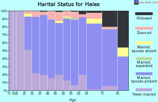 Zip code 15239 marital status for males