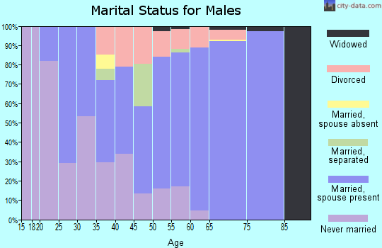 Zip code 15724 marital status for males