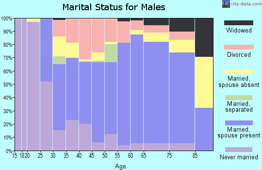 Zip code 16749 marital status for males