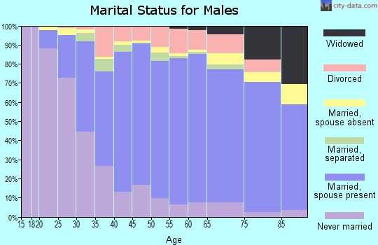 Zip code 18017 marital status for males