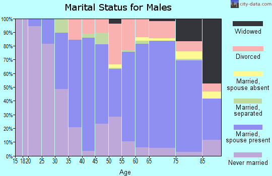 Zip code 18252 marital status for males
