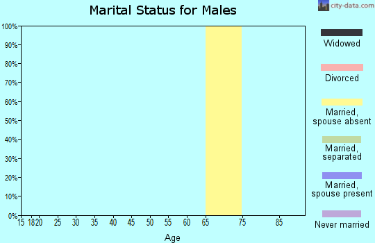 Zip code 18430 marital status for males